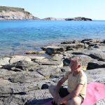 ademen in de vrije lucht aan zee op sardinie